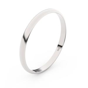 Zlatý snubní prsten FMR 4H20 z bílého zlata, bez kamene 50