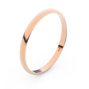 Zlatý snubní prsten FMR 4H20 z růžového zlata, bez kamene 53