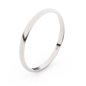 Zlatý snubní prsten FMR 4I17 z bílého zlata, bez kamene 62