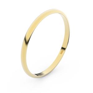 Zlatý snubní prsten FMR 4I17 ze žlutého zlata, bez kamene 63
