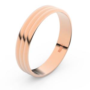 Zlatý snubní prsten FMR 4J47 z růžového zlata, bez kamene 48