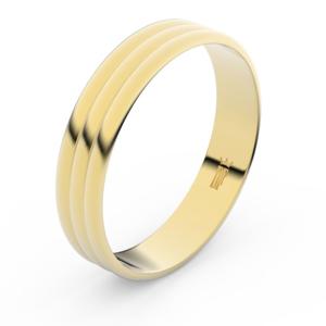 Zlatý snubní prsten FMR 4J47 ze žlutého zlata, bez kamene 71