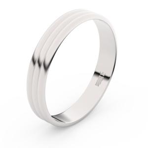 Zlatý snubní prsten FMR 4K37 z bílého zlata, bez kamene 60
