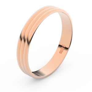 Zlatý snubní prsten FMR 4K37 z růžového zlata, bez kamene 60