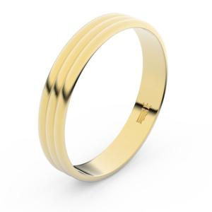 Zlatý snubní prsten FMR 4K37 ze žlutého zlata, bez kamene 52