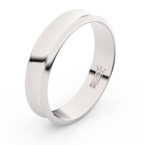 Zlatý snubní prsten FMR 5A50 z bílého zlata, bez kamene 50