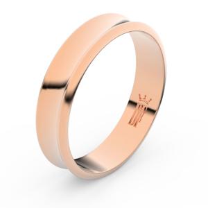 Zlatý snubní prsten FMR 5A50 z růžového zlata, bez kamene 59