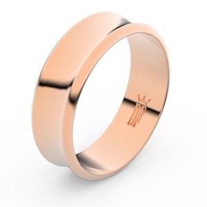 Zlatý snubní prsten FMR 5B70 z růžového zlata, bez kamene 60