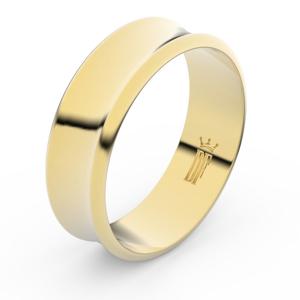 Zlatý snubní prsten FMR 5B70 ze žlutého zlata, bez kamene 61