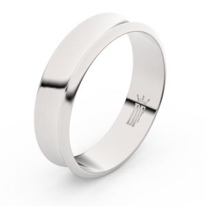 Zlatý snubní prsten FMR 5C57 z bílého zlata, bez kamene 52