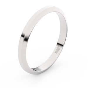 Zlatý snubní prsten FMR 6A30 z bílého zlata, bez kamene 53