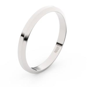 Zlatý snubní prsten FMR 6A30 z bílého zlata, bez kamene 56
