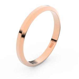 Zlatý snubní prsten FMR 6A30 z růžového zlata, bez kamene 58