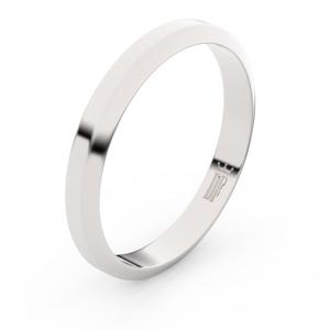 Zlatý snubní prsten FMR 6B32 z bílého zlata, bez kamene 69