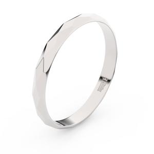 Zlatý snubní prsten FMR 830 z bílého zlata, bez kamene 51
