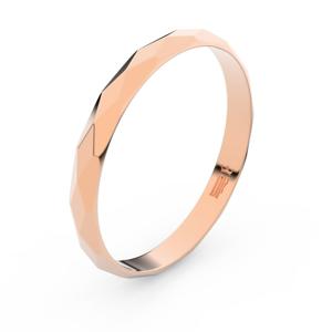 Zlatý snubní prsten FMR 8B30 z růžového zlata, bez kamene 66