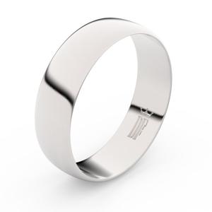 Zlatý snubní prsten FMR 9A60 z bílého zlata, bez kamene 56