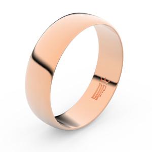 Zlatý snubní prsten FMR 9A60 z růžového zlata, bez kamene 48