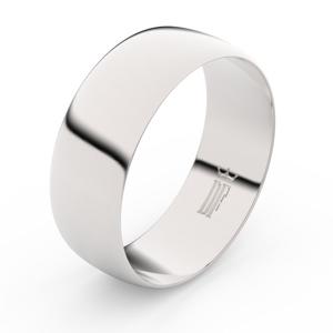 Zlatý snubní prsten FMR 9B80 z bílého zlata, bez kamene 62