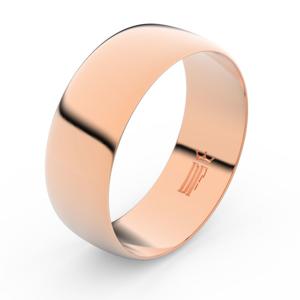 Zlatý snubní prsten FMR 9B80 z růžového zlata, bez kamene 53