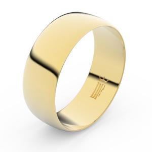 Zlatý snubní prsten FMR 9B80 ze žlutého zlata, bez kamene 63